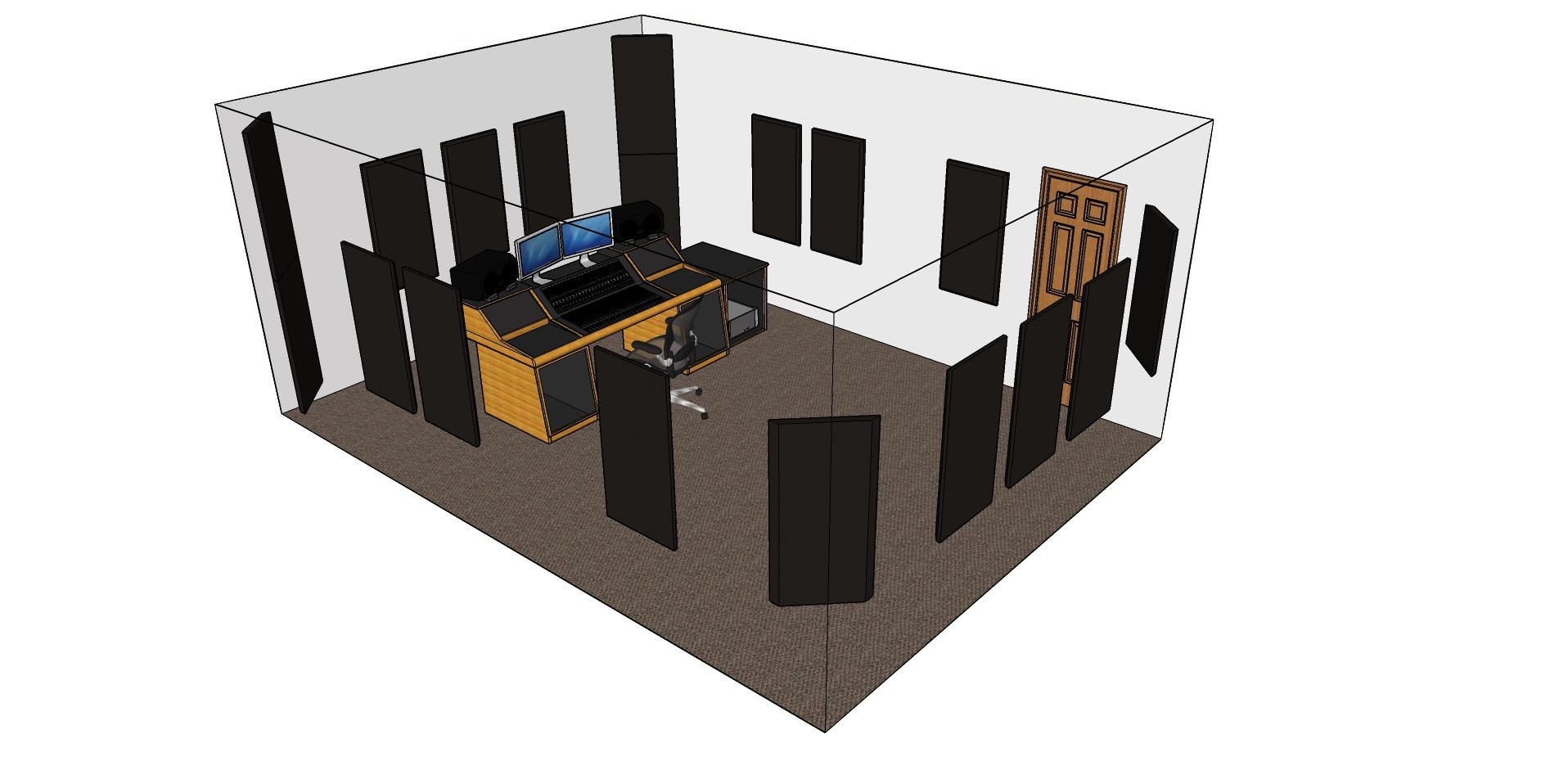 Acoustic treatment where to start the recording solution - Bedroom studio acoustic treatment ...